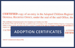 Duplicate Adoption Certificate