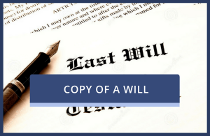Copy of Will (Probate)