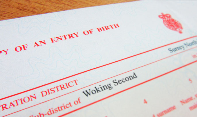 UK Birth Certificate Replacement