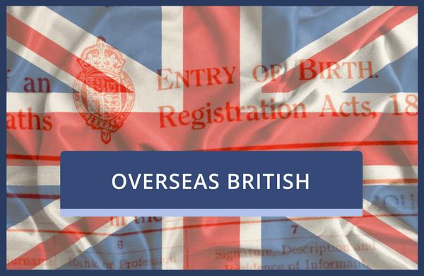 Copy of a UK Overseas Birth Certificate