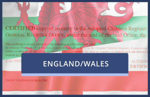 Copy Adoption Certificate (England & Wales)