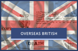 Overseas UK Death Certificate