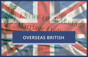 Overseas UK Marriage Certificate