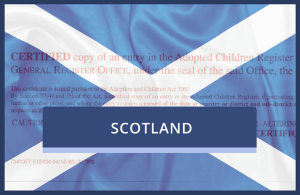 Replacement Scottish Adoption Certificate