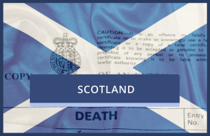 Replacement Scottish Death Certificate