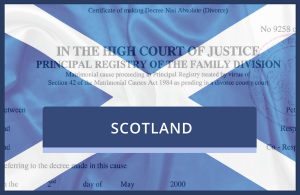 Copy of a Scottish Divorce Decree